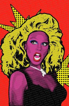 Pop Art RuPaul Available in Various Sizes by mxMEDIAprints