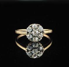 Victorian .90Ct old cut diamond rare ring. £790.00, via Etsy.