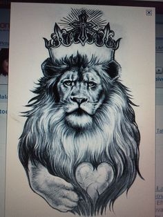 Lion Tat..few minor modifications and this is going on the outside of my right thigh...can't wait!