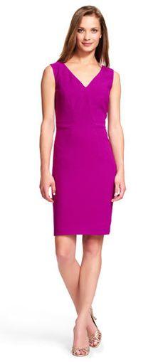 Adrianna Papell | Origami Sheath Dress with V-Neck