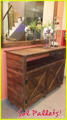 Wood pallet is being dramatically used these days for the creation of the dresser creation too. What this dresser creation is all about? Well, wood pallet dresser idea has been all showcase out in the styling concept of the table set where you will encounter the taste of the cabinets plus the access of the drawers too.