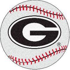 Fanmats Georgia Bulldogs Baseball-Shaped Mat