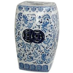 Oriental Furniture Beautiful Oriental Home Decor 18-Inch Blue and White Chinese Porcelain Garden Stool, Square with Floral Design by ORIENTAL FURNITURE. $158.00. Classic ming blue and white oriental porcelain decorative garden stools. Browse our entire line of matching decorative porcelains on amazon.com. Offered in two round and two square shapes, choose floral or landscape design. Fine chinese porcelain garden stools finished in traditional blue and white ming dynas...