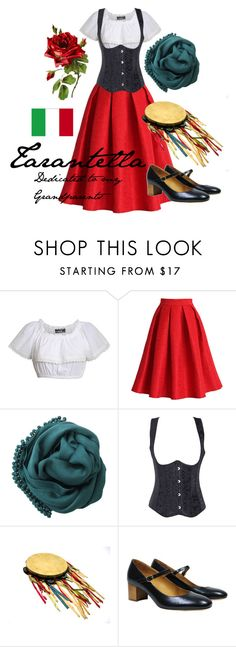 """Tarantella - dedicated to my Grandparents"" by alisa1987 ❤ liked on Polyvore featuring Pilot, Chicwish, Bajra, Étoile Isabel Marant, Italy, Costume, ITALIAN, tambourine and tarantella"