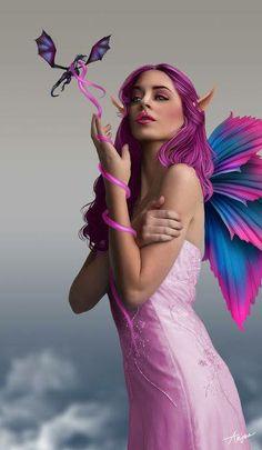 Pretty Purple Fairy, artist unknown