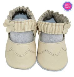 Hand Made, Soft sole, leather, cream, Mary Janes, soft leather, baby shoes, baby slippers, slipper, toddler, booties, FREE SHIPPING