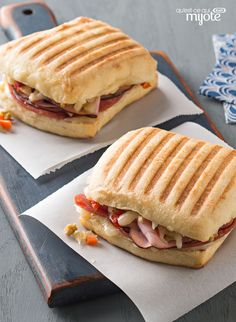 Italian Lovers' Panini since had a panini sandwich at restaurant will only make panini bread like loaves saves getting too much carbohydrates . Gourmet Sandwiches, Wrap Sandwiches, Sandwich Recipes, Bagel Recipe, Dough Recipe, Paninis, Panini Bread, Vegetable Slice, Grilled Sandwich
