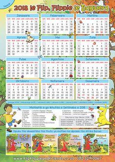 Flip Flippie and Friends Sepedi Calendar