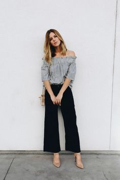 How to wear the off the shoulder look at work