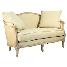 Maison Limed Settee in Hemp - Cottage Chic on Joss and Main