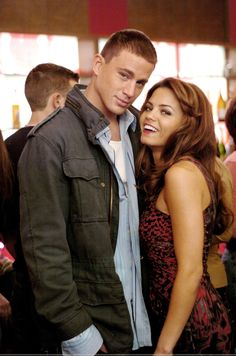 Channing Tatum and Jenna Dewan Tatum in the movie Step Up. They are such a beautiful couple!! :)