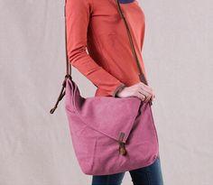 2014 FREE SHIPPING Vintage canvas bag crazy horse leather messenger bag preppy style unisex casual women's handbag