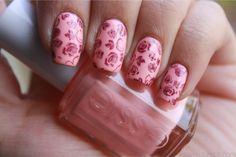 floral pink mani!