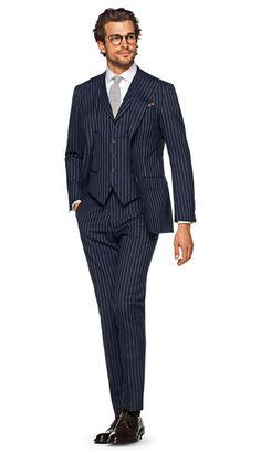 Suit Navy Stripe Havana P5306 | Suitsupply Online Store
