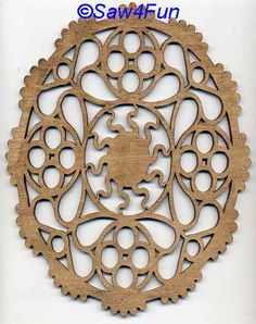 Geometric #40a Trivet Scroll Saw Pattern--could be laser cut