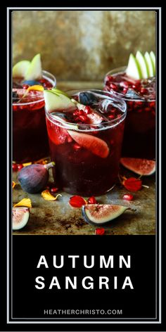 Fall Sangria, Gluten Free Thanksgiving, Thirsty Thursday, Easy Cocktails, Allergy Free, Healthy Drinks, Pomegranate, Fig, Dairy Free