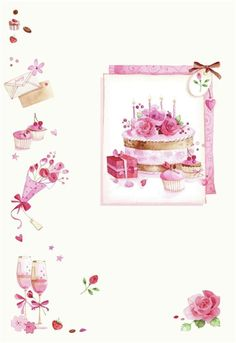 Leading Illustration & Publishing Agency based in London, New York & Marbella. Illustrations Pastel, Birthday Wishes, Happy Birthday, Scrapbook Paper, Scrapbooking, Decoupage Tutorial, Cupcake Art, Happy B Day, Writing Paper