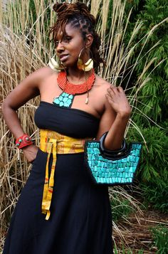Jumbo Fulani Earrings by luxorcouture on Etsy, $40.00
