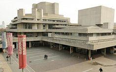 The National Theatre, London (near Waterloo) London Architecture, Modern Architecture, Theatre Architecture, Interesting Buildings, Beautiful Buildings, Royal National Theatre, Cities, Concrete Building, Le Corbusier