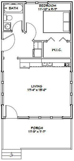 18x30 Tiny House -- 540 sq ft -- PDF Floor Plan - Model 4E   eBay