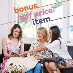 You'll be the host with the most when you hold a party in November. Earn an extra half price item and you can spoil yourself with something special.
