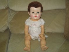 """20"""" American Character Tiny Tears with Rubber Body & Caracul Wig"""