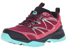 Merrell Women's Capra Bolt Waterproof Hiking Shoe, Bright Red, M US: Embrace your inner mountain goat in the Capra Bolt. Made for high-adrenaline hikes, its grippy outsole lets you move confidently on terrain. Trail Shoes, Hiking Shoes, Hiking Gear, Hoka Shoes Woman, Yellow Boots, Hiking Boots Women, Boots Online, Waterproof Boots, Winter Boots