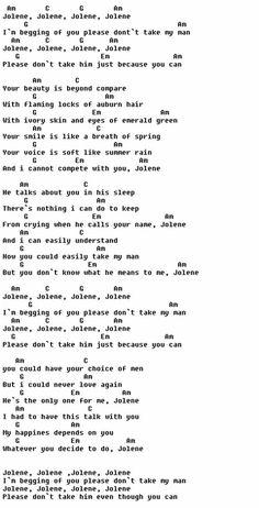 Jolene - Dolly Parton Style :)