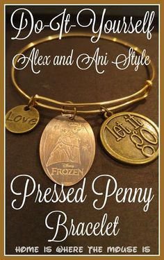 Turn your Disney Pressed Penny collection into a beautiful piece of jewelry with this DIY Pressed Penny Bracelet tutorial.