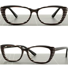 Women Cat Eye Plastic Frames Glasses Spring Hinge Zebra Print White Stripe  Black  Unbranded afb1f76c9bd8