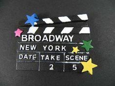 NEW-YORK-Magnet-Broadway-Filmklappe-3-D-Polyresin-Souvenir-USA