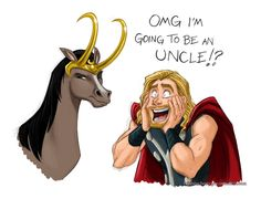 brodinsons: briannacherrygarcia: Thor hears the good news. Guys what am I doing, I don't even know anymore. o_o I firmly believe this is how Thor reacted. Oh, animateher…