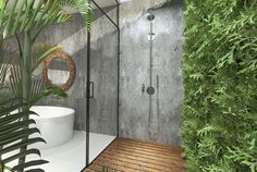 Browse Outdoor Shower Design Ideas For Swimming Pools Areas. Click and take a look at all outdoor shower ideas at The Architecture Designs. Outdoor Pool Shower, Outdoor Baths, Outdoor Bathrooms, Indoor Outdoor, Outdoor Rooms, Outdoor Living, Tulum, Douche Design, Small Shower Remodel