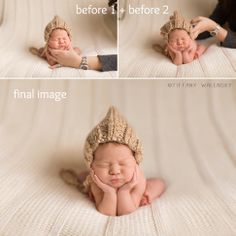 Behind the Scenes, composite before and after, Tiffany Walensky Photography. tampa newborn photographer.