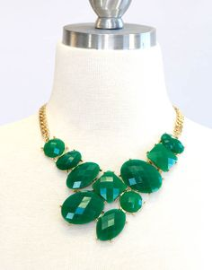 Gorgeous Green Statement Necklace - Lotus Boutique
