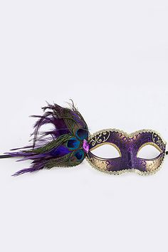 Peacock Feather Mask Masquerade Mask Mardi Gras Mask by Scarlettaa