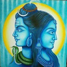 Mahakal Shiva, Shiva Art, Hindu Art, Lord Shiva, Art Drawings Sketches, Pencil Drawings, Shiv Ji, Lord Mahadev, Shiva Wallpaper