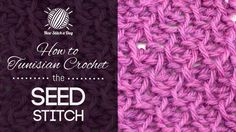 How to Tunisian Crochet the Seed Stitch