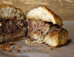 French Onion Fontina Burger #dixiechikcooks