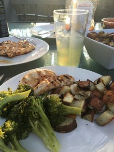 Celebrated Cinco de Mayo with grilled chicken, roasted potatoes, broccoli and margaritas on the back deck. May 5th