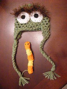 Oscar the grouch hat with slimey
