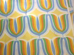 Super Mod Fabric 2 2/3 yds - Large scale Panton Era Tulip Print