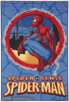 Makatka AW Spider Man 19 | 1 www.arte.pl Carpets For Kids, Spiderman, Superhero, Fictional Characters, Inspiration, Art, Spider Man, Biblical Inspiration, Fantasy Characters