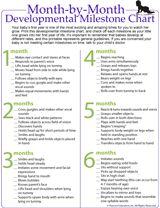 Developmental milestone chart for babies month by month printable