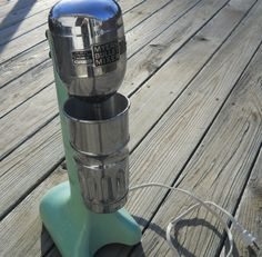 Myers Bullet Mixer Milk Shake Mixer Jadite Enamel by PiscesSpirit, $130.00