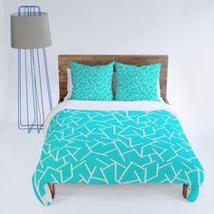 Holli Zollinger Ocean Duvet Cover #teal  #bedding #bedroom