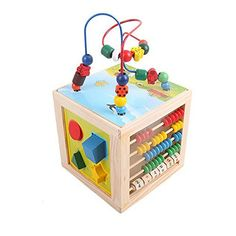 5 in 1 Children Kids Baby Colorful Wooden Mini Around Beads Math Toys shape match Educational Game Toys ** Continue to the product at the image link. (This is an affiliate link) Baby Playroom, Shape Matching, Educational Games, Baby Kids, Image Link, Colorful, Shapes, Math, Beads