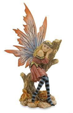 Statuette féerique décoration : Petite fée automnale