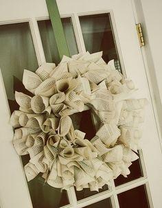 book wreath.