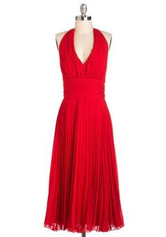 University of Marilyn Dress in Rouge